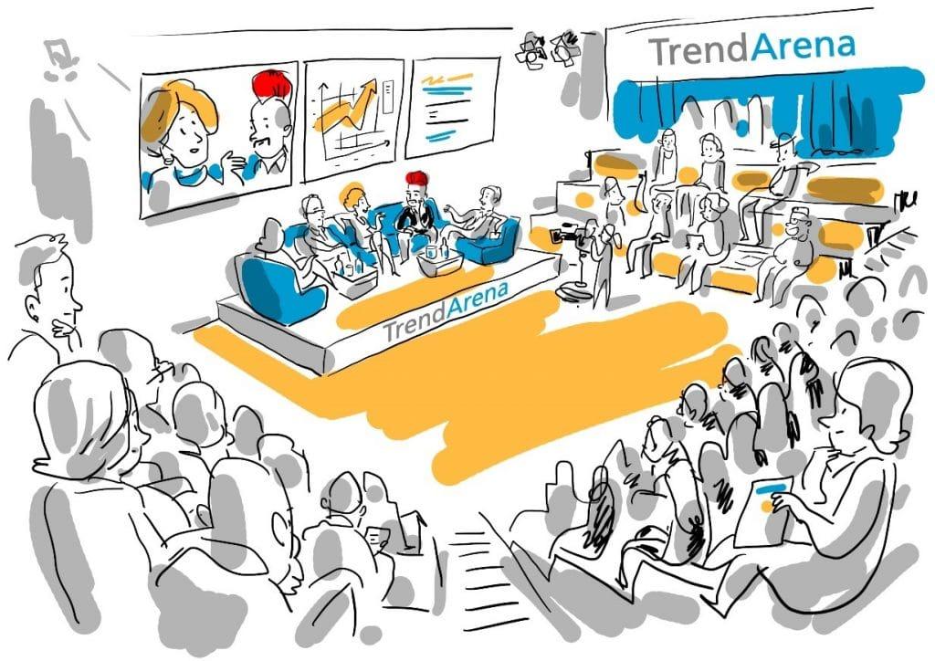 neue-mediengesellschaft inszenierung betreuung neue trendarena internet world